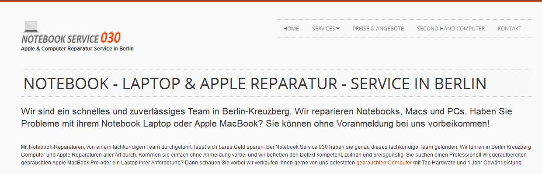 Moderner Reparaturservice für Apple, Laptops und Notebooks
